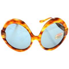 Deadstock France Vintage Sunglasses 1960s Mod Giant Oversized Tortoise New