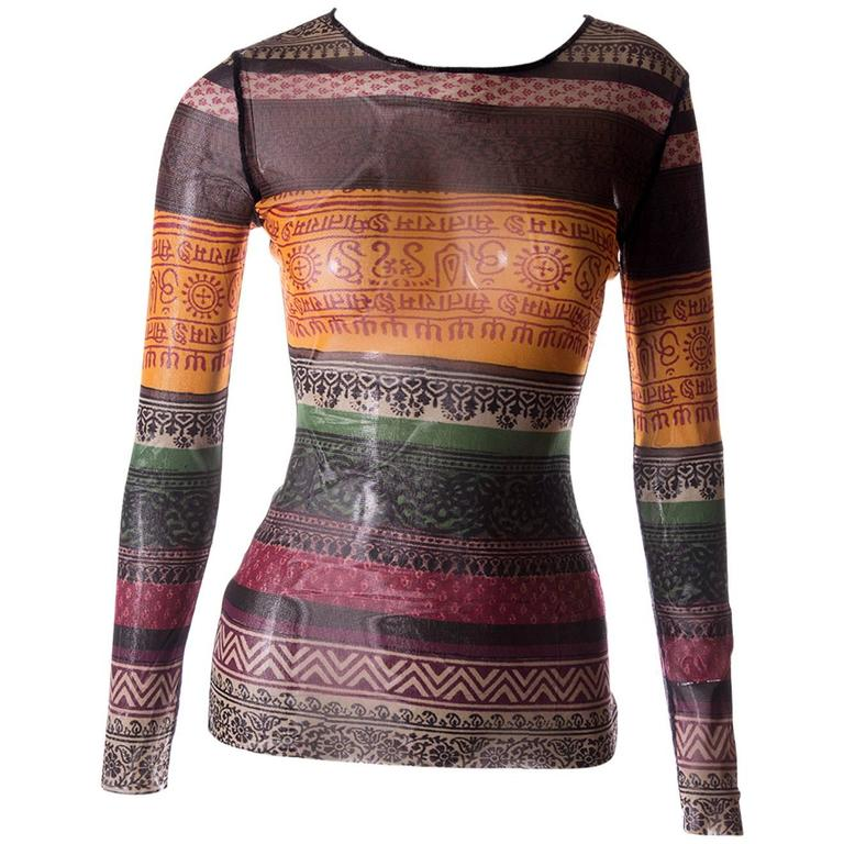 Jean Paul Gaultier Sheer Tribal Shirt 1