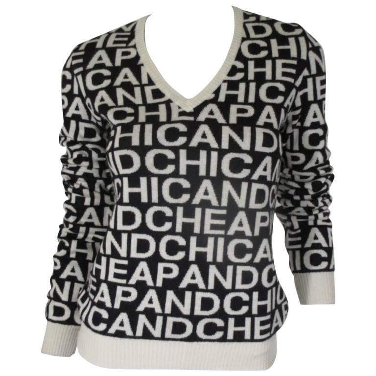 moschino cheap and chic wool sweater 1