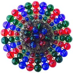 Early Miriam Haskell Glass Bead Brooch ca.1940
