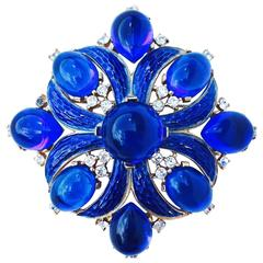 """Trifari """"Jewels Of India"""" Brooch ca.1960"""