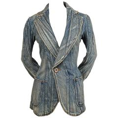 2002 JUNYA WATANABE COMME DES GARCONS denim patchwork runway jacket
