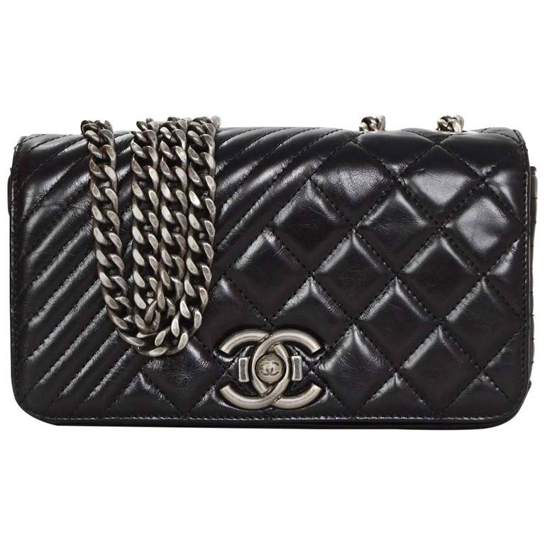 Chanel 2015 Black Leather Dual Quilted Mini Coco Boy Crossbody Bag SHW For  Sale 222efb55e2da8