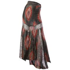 Rare late 1920s Lamé Trained Skirt
