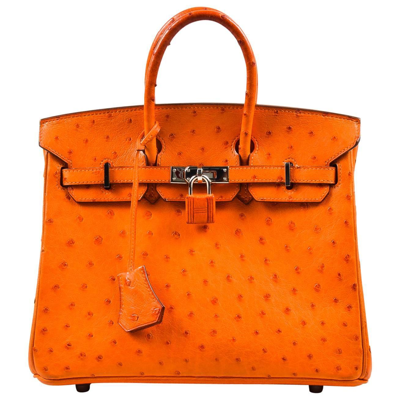 hermes ostrich mini bolide bag