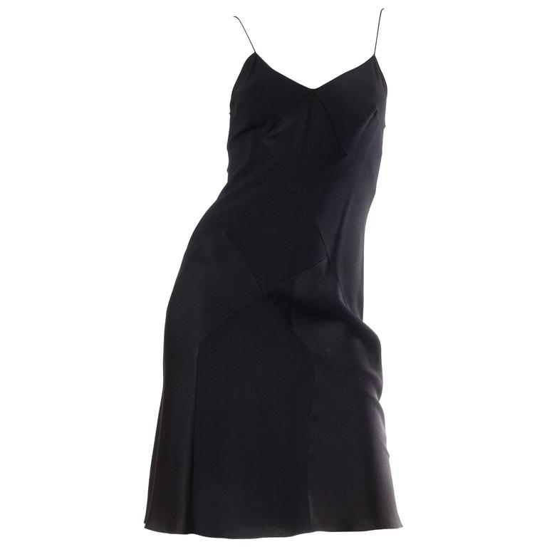 John Galliano Art Deco Seamed Bias Cut Slip Dress