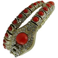 Chanel Jewelled Articulated Snake Bracelet