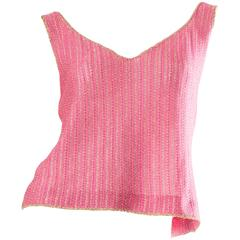 1960s Christian Dior Knit Top with gold