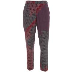 Lanvin Men's Silk Geometric Printed Pants, Spring - Summer 2012