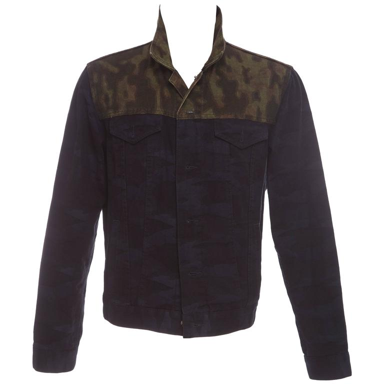 Dries Van Noten Men's Camouflage Denim Jacket, Spring 2013
