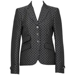 Fall 2007 Runway Gucci Black and White Geometric Blazer