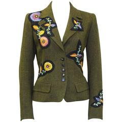 Early 2000's Loulou de la Falaise Embroidered Tweed Jacket