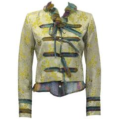 Early 2000's Loulou de la Falaise Brocade Jacket with Floral Blouse