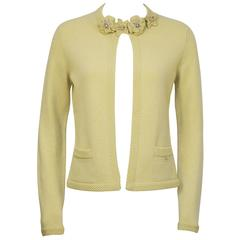 Spring 2005 Chanel  Butter Yellow Cashmere Cardigan