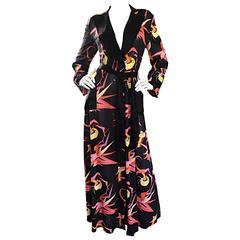 Agent Provocateur Black Japanese Style Dressing Gown Dress Silk Kimono Robe