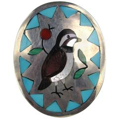 Zuni Sammy & Esther Guardian Bird Ring set in Sterling Silver