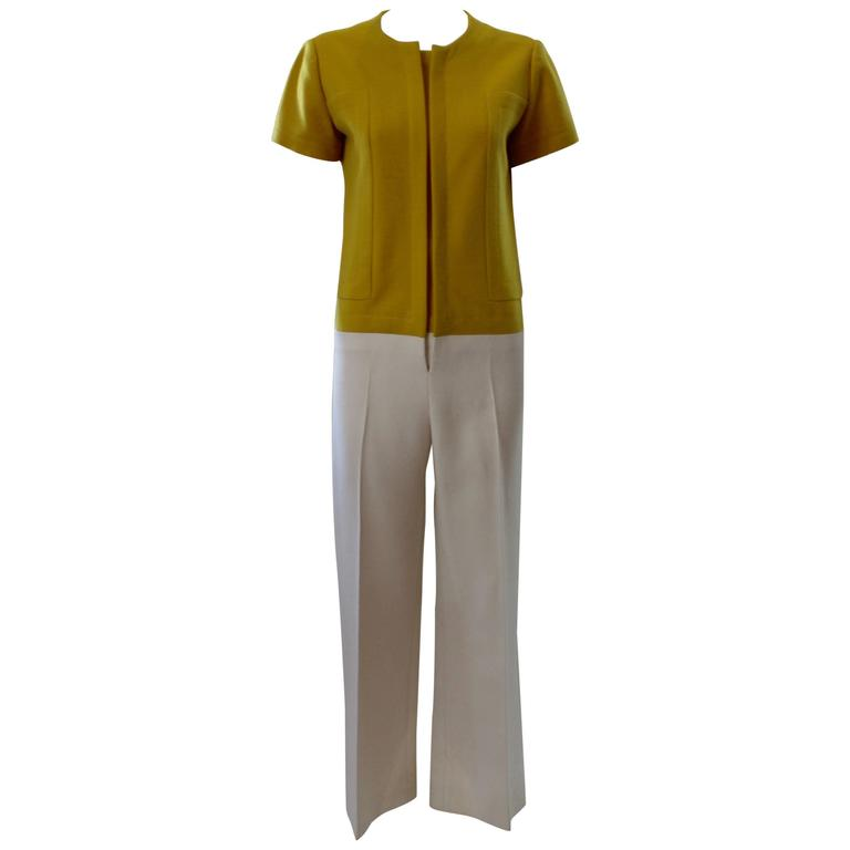 1960s Jean Patou Two-Toned Jumpsuit