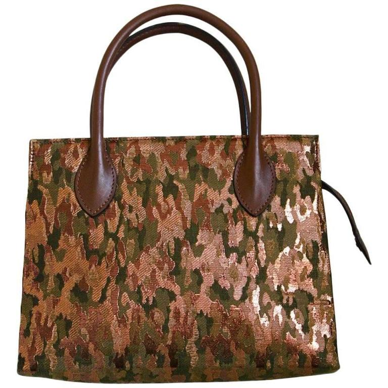 1990's AZZEDINE ALAIA metallic camouflage bag 1