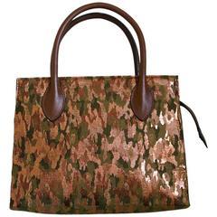 1990's AZZEDINE ALAIA metallic camouflage bag