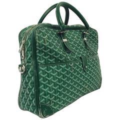 Goyard Green Goyardine Ambassade Briefcase