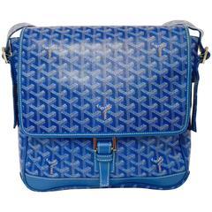 Goyard Blue Goyardine Urbain Messenger Cross Body Shoulder Bag