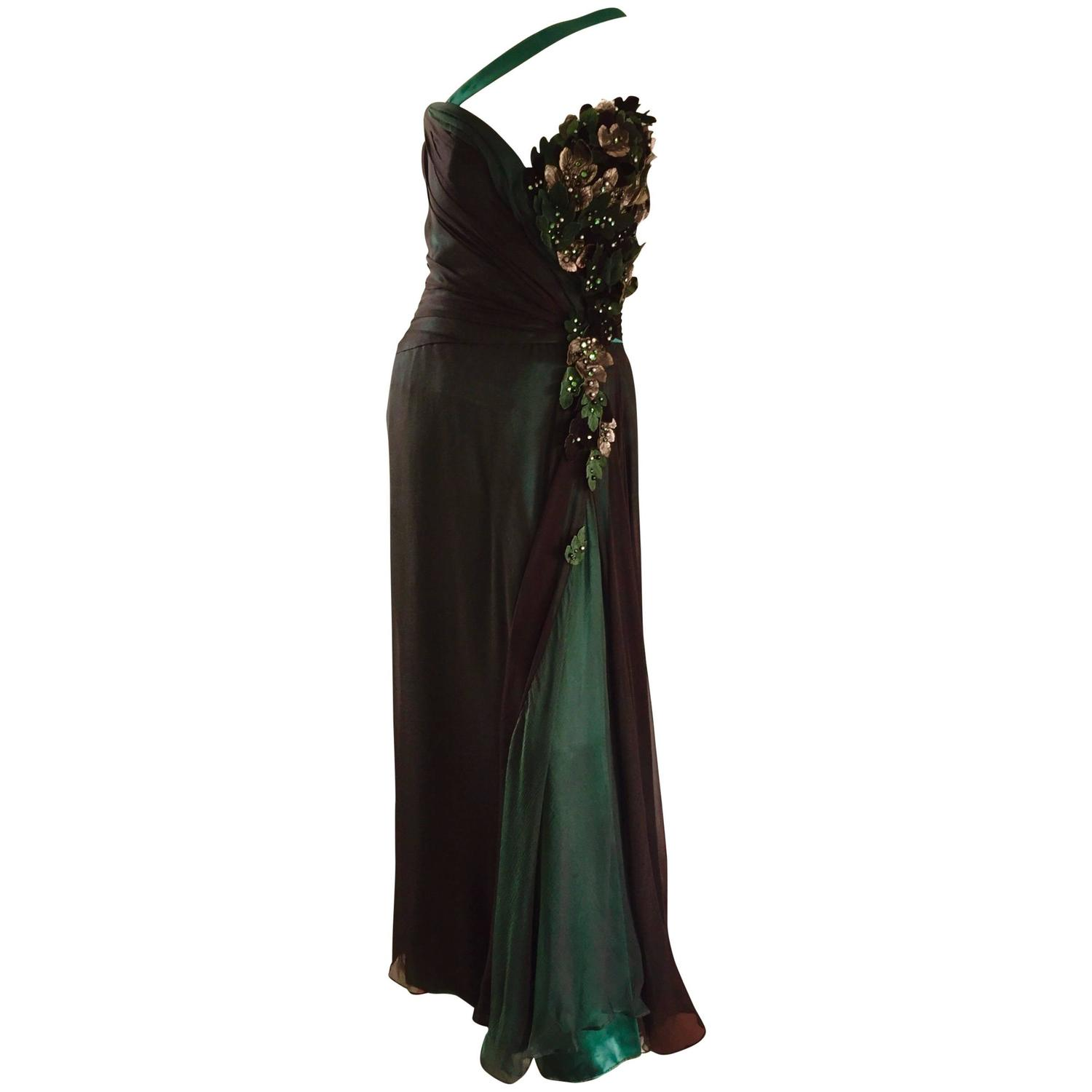 Leather Evening Gowns - 264 For Sale on 1stdibs
