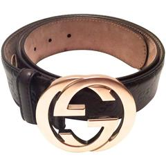 Men's Gucci Brown Leather Belt - Like New