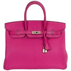 Hermès Rose Shocking Birkin Bag
