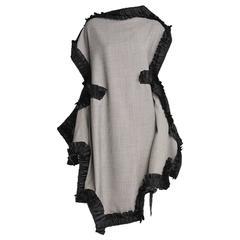 2014 COMME des GARÇONS 2D houndstooth ruffle dress