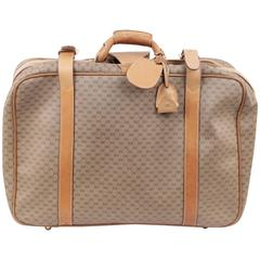 GUCCI VINTAGE Tan GG MONOGRAM Canvas CABIN SIZE SUITCASE Travel Bag