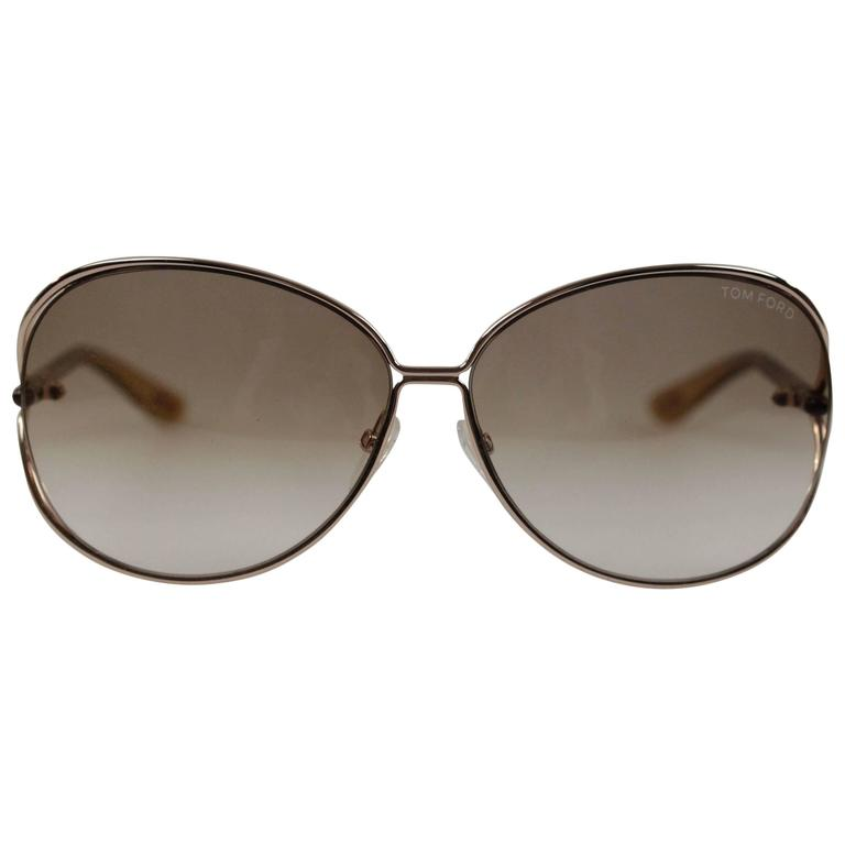 TOM FORD SUNGLASSES mod. CLEMENCE TF 158 28F 65/13 Round MINT Eyewear For Sale