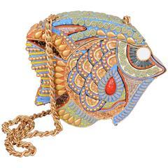 Beautifully Embellished Fish Shaped Shoulder Bag