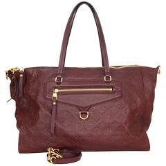 Louis Vuitton Burgundy Leather Monogram Emprinte Lumineuse GM Tote Bag rt $3,550