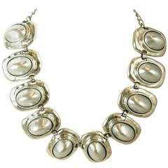 Kenneth Jay Lane Alternating Dome Shape link Necklace