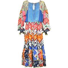 Koos Pieced Silk Crepe Boho Dress
