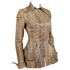 Ossie Clark snakeskin jacket, c. 1967