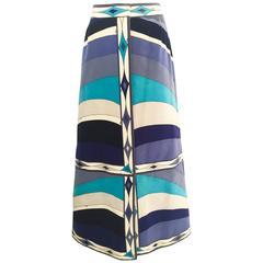 1970s Pucci velvet midi skirt