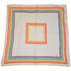 "Vera Multi-Color Cotton ""Rainbow"" Scarf"
