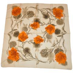"""Morabito """"Boutique"""" Multi-Color Floral Silk Scarf"""