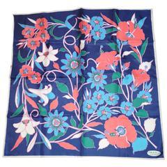 """Smith's of Bermuda """"Island Flowers"""" Silk Scarf"""