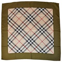 "Burberry Iconic Signature ""Plaid"" Silk Scarf"
