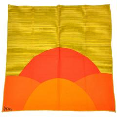 Vera  Bold Abstract Yellow & Orange Linen Napkins