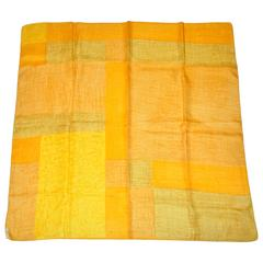 """Shades of Yellow & Orange"" Silk Scarf"