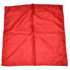 Ashear Blood Red Silk Handkerchief