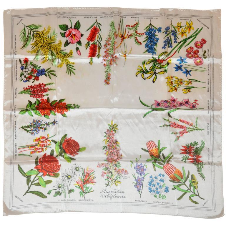 neil australia quot australian flowers quot silk scarf for sale
