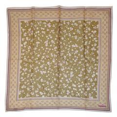Cacharel Multi-Color Cotton Floral Scarf
