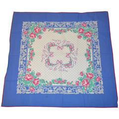 Laura Ashley Multi-Color Cotton Floral Scarf