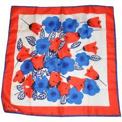Vera Bold Multi-Color Floral Silk Scarf