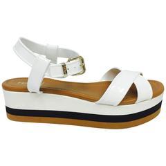 Fendi Hydra PVC Wedge Sandals 40