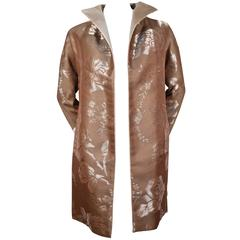Valentino vintage haute couture metallic bronze floral jacket